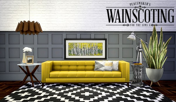 Simsational designs: Peacemakers Wainscotting