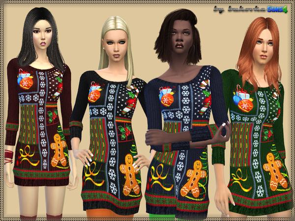 The Sims Resource: Dress Christmas by bukovka