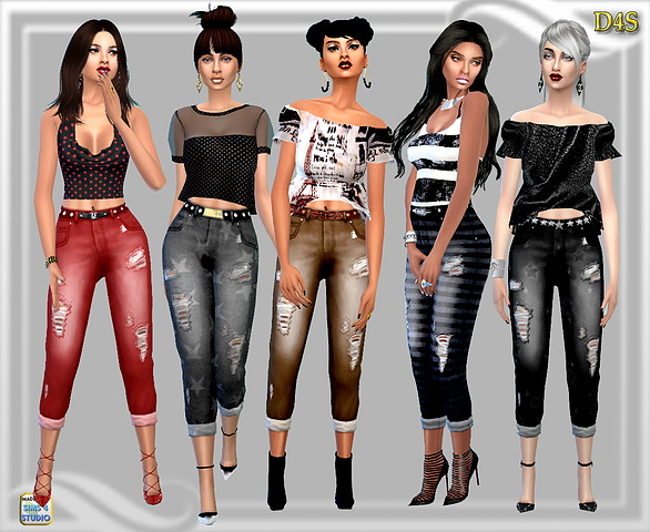 Dreaming 4 Sims: Three four jeans