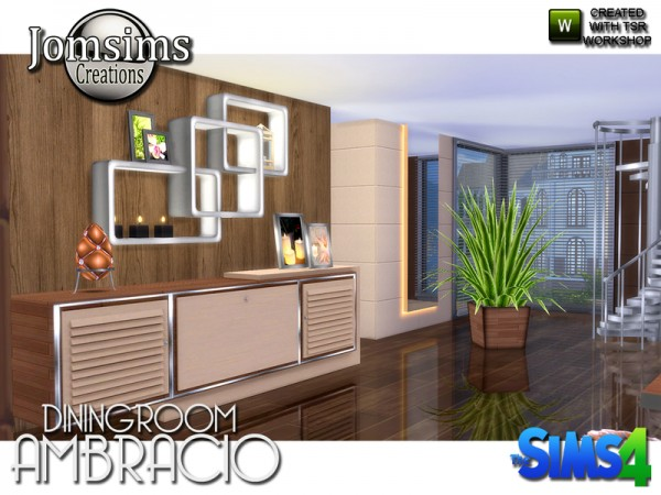 The Sims Resource: Ambracio diningroom by jomsims