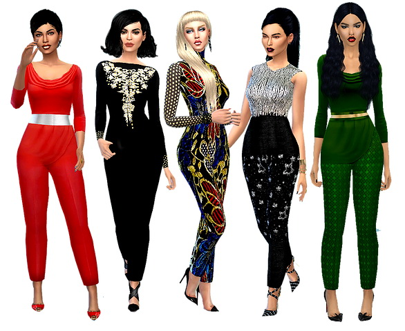 Dreaming 4 Sims: Holiday set of 7 outfits