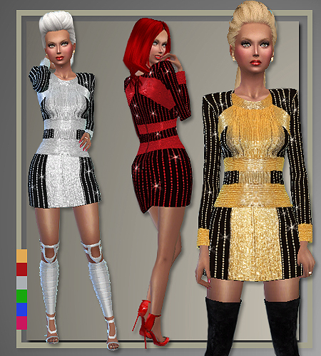 All About Style Balmain Holiday Party Outfits Sims 4