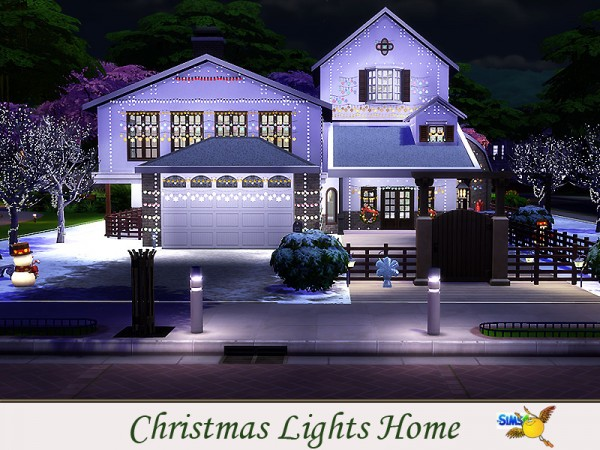 The Sims Resource Christmas Lights Home By Evi Sims 4