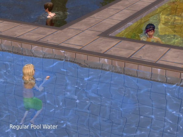Mod The Sims: Multi Color Pool Water by plasticbox
