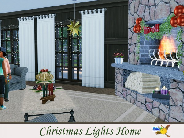 The Sims Resource: Christmas Lights Home by evi