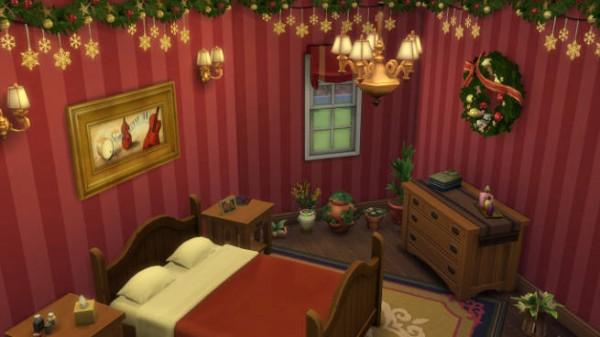 Blackys Sims 4 Zoo: X mas bedroom by SimsAtelier