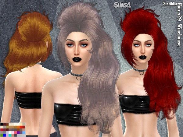 The Sims Resource: Sintiklia   Hair s29 Winehouse