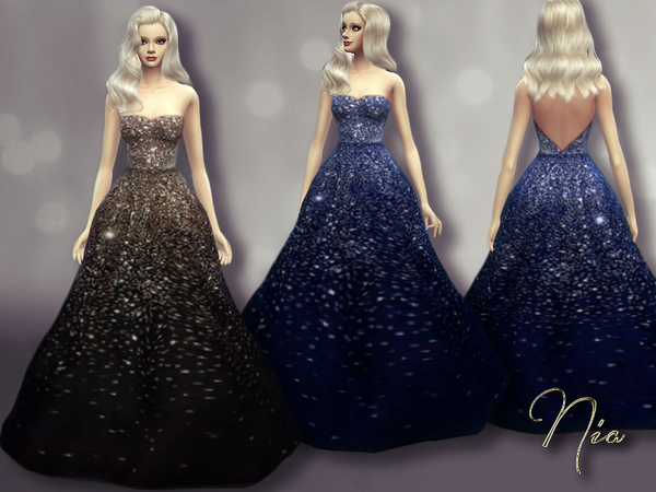 The Sims Resource: Olivia Wildes Sequined Gown by Nia