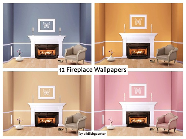 Akisima Sims Blog: 12 Fireplace wallpapers