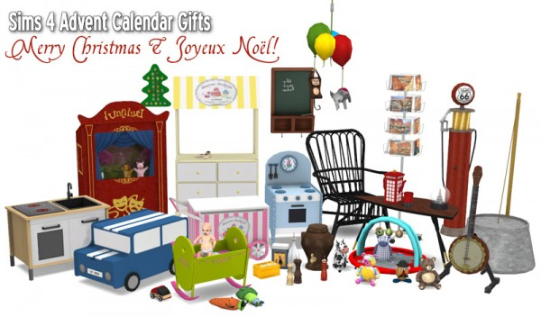 Around The Sims 4 Special 2015 Advent Calendar Gifts 1