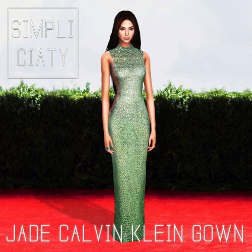 Simpliciaty: Jade Calvin Klein Gown