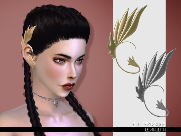 The Sims Resource: Fall Earcuff by LeahLilith