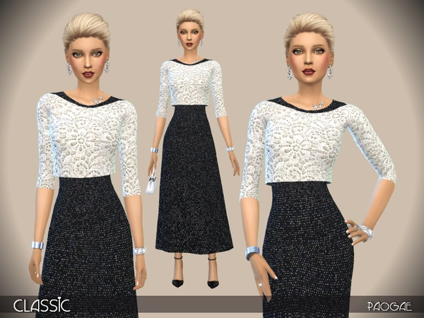 The Sims Resource: Classic dress by Paogae