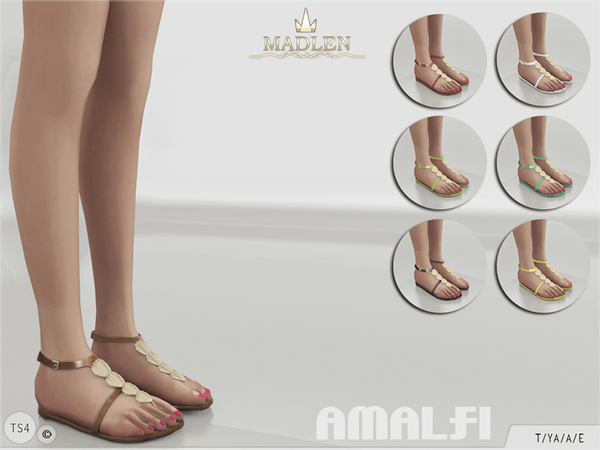 The Sims Resource: Madlen Amalfi Shoes by MJ95