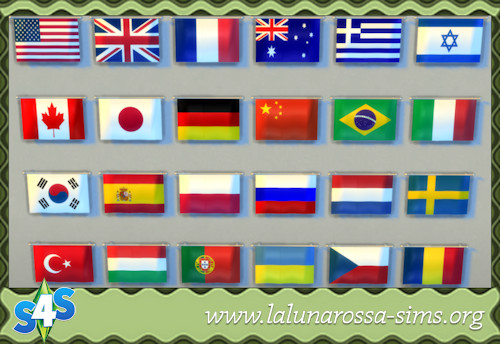 La Luna Rossa Sims: National flags