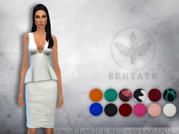 The Sims Resource: Clarice Top & Skirt by Sentate