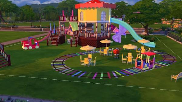 Sanjana Sims Joyful Kids Playground Set Sims Downloads - Playground stencils