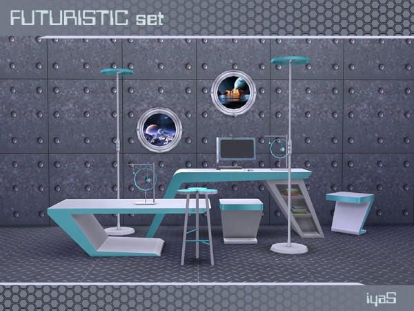 The Sims Resource: Futuristic set by Soloriya