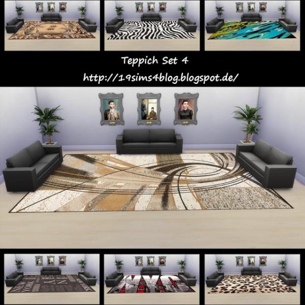 19 Sims 4 Blog: Carpet set 4