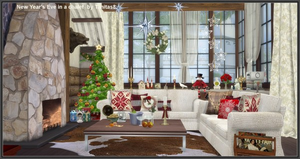 Tanitas Sims: New Year's Eve in a chalet • Sims 4 Downloads