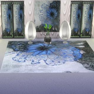 Trudie55: Blue flower set.