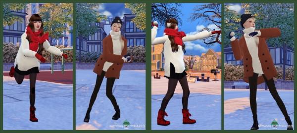 Flower Chamber: Snowing fun poses set