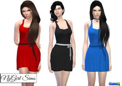 NY Girl Sims: Braided Racerback Dress