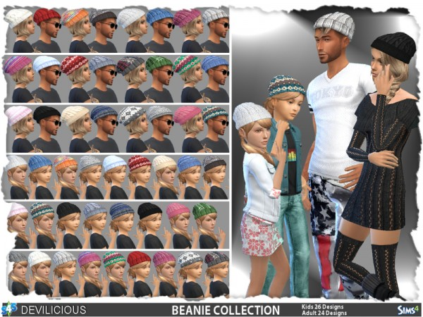 The Sims Resource: Beanie Collection  26   Kids 24 by Devilicious