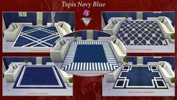 Khany Sims: Navy Blue carpets by Guardgian
