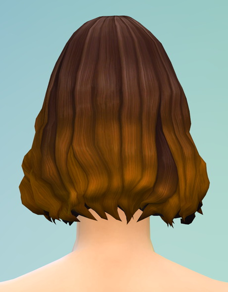 Rusty Nail: Long wavy parted  V4 brown hairstyle