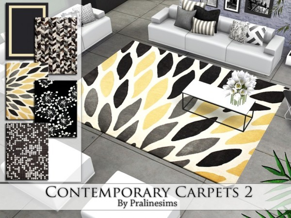 The Sims Resource: Contemporary Carpets 2 by Pralinesims