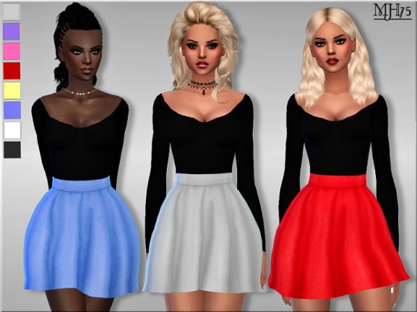 Sims Addictions: Addison Dress by Margies Sims