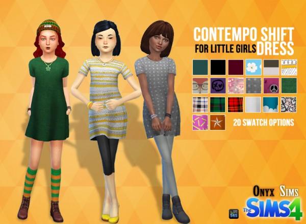 Onyx Sims Shift Dress Sims 4 Downloads