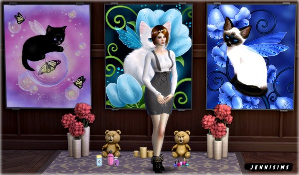 Jenni Sims: Painting kitties (9 designs)