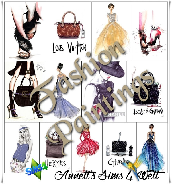 Annett`s Sims 4 Welt: Fashion Paintings