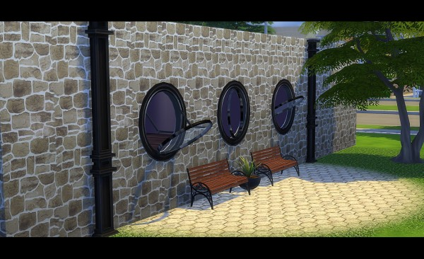 Sims 4 Designs Round Open Windows Sims 4 Downloads
