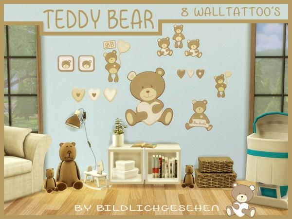 Akisima Sims Blog: Walltattoo teddy bear
