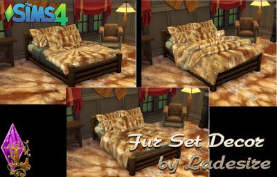 Ladesire Creative Corner: Fur Set Decor
