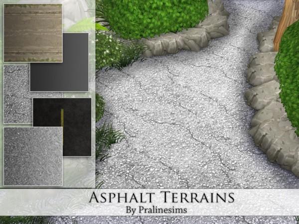 The Sims Resource: Asphalt Terrains by PralineSims