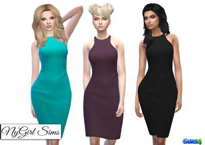 NY Girl Sims: Cutout Racer Back Pencil Dress