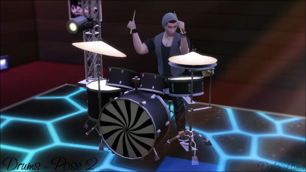The Sims Lover: Drums Poses by Dalai Lama