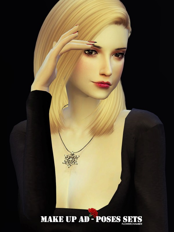 Flower Chamber Make Up Poses Set Sims 4 Downloads