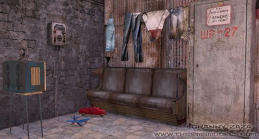 The Sims Models Set Metro 2033 By Granny Zaza Sims 4