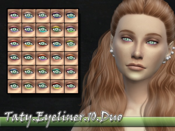 The Sims Resource: Eyeliner 10 Duo by Taty