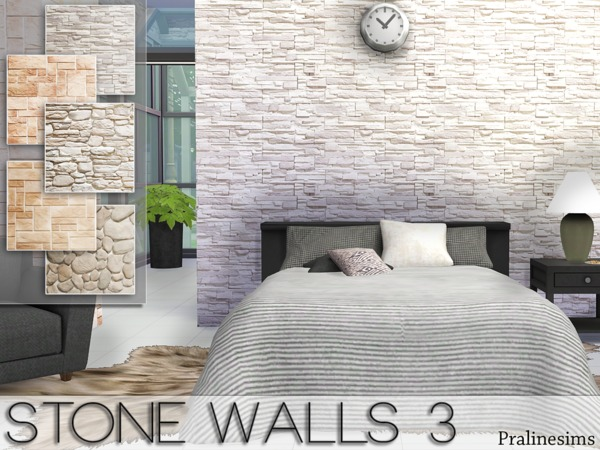 The Sims Resource: Stone walls 3 by Pralinesims