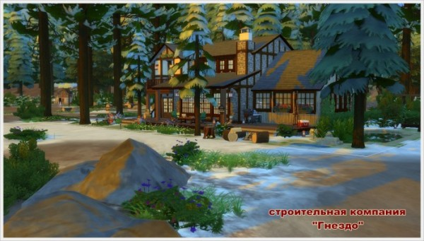 Sims 3 by Mulena: Winters Tale house