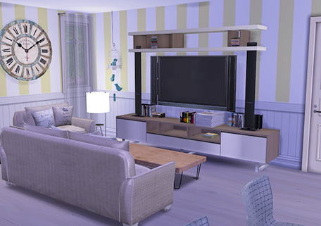 Enure Sims: Striped Panelling Walls