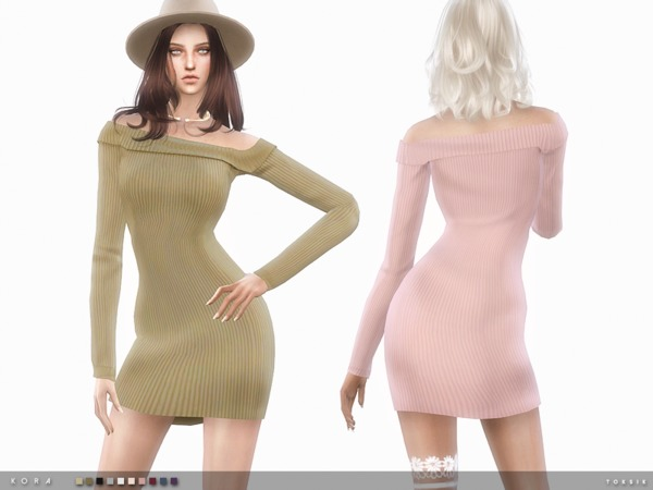 The Sims Resource: Kora dress by toksik