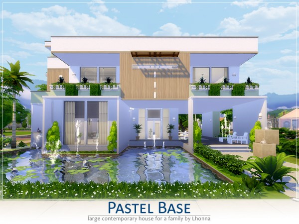 the sims resource pastel base house by lhonna sims 4