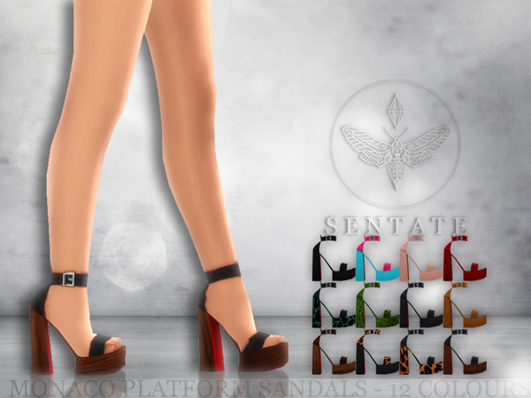 The Sims Resource: Monaco Platform Sandals by Sentate
